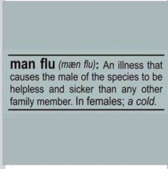 Definition of Man Flu