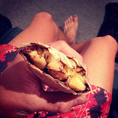 Banana and Nutella Mexican Wrap