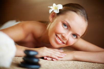 Enjoying spa