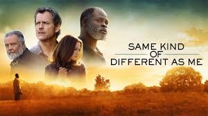 Same Kind Of Different As Me movie poster with four of the cast.